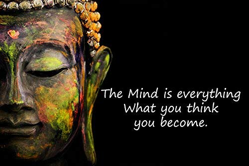 Decorative Buddha Poster 100Yellow® Digital Motivational Multicolour