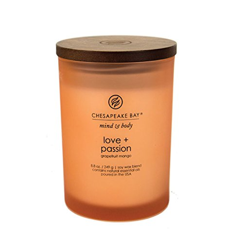 Chesapeake Bay Candle Mind & Body Medium Scented Candle, Love + Passion (Grapefruit Mango) by Chesapeake Bay Candle (Image #4)