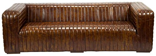 Moe's Home Collection Kastle Leather Sofa, Brown