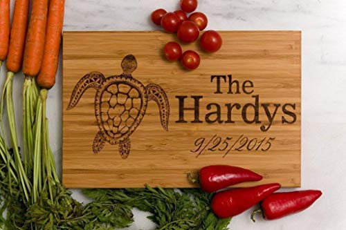 - Personalized, Sea Turtle Engraved Cutting Board by Left Coast Original