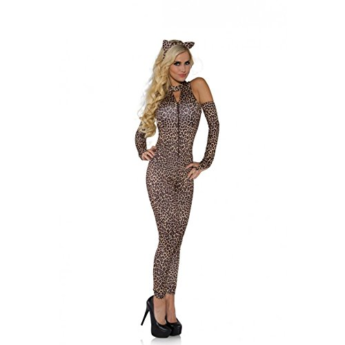 Sexy Jungle Adult (Underwraps Costumes Women's Sexy Leopard Costume - Jungle Cat, Leopard, Medium)