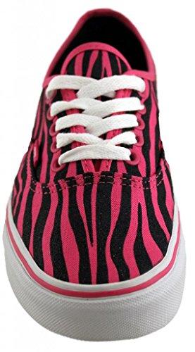Vans Womens Vans Authentic (zebra Glitter) Scarpe Da Skate 9 Uomini Us / 10.5 Donne Us (hop Rosa / Nero)