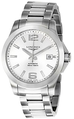 Longines Conquest Men's Steel Watch Automatic 39 Mm Silver Dial L3.676.4.76.6