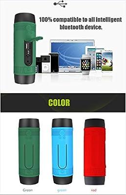 Bluetooh Speaker WaterProof USB Port Charger Phone Flash Light Bass LightWeight