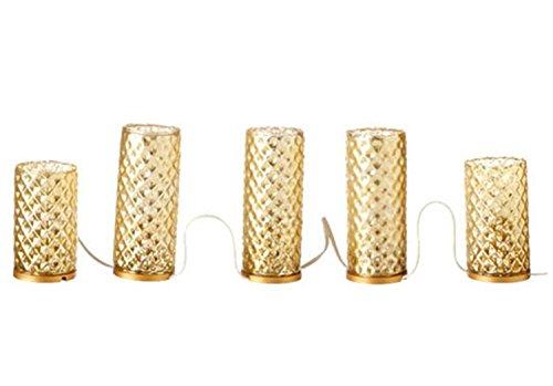 "UPC 762152884807, 72"" Elegant Antique Gold Diamond Faceted Glass Flameless Pillar Candle Christmas Decor"