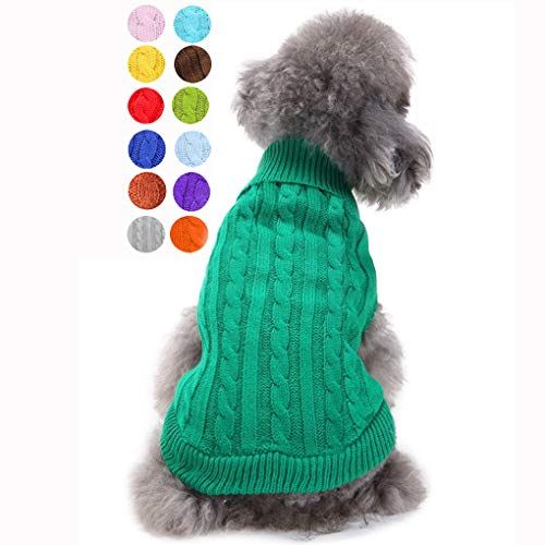 Dog Sweater, Warm Pet Sweater, Dog Sweaters for Small Dogs Medium Dogs Large Dogs, Cute Knitted Classic Cat Sweater Dog…