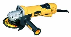 DeWalt D28116-QS - Mini-amoladora 115mm 1.100W 10.000 rpm Arranque Suave + Bloqueo y re-arranque + Embrague + Límite sobrecarga