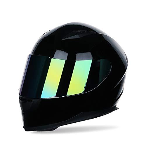 Motorradhelm Integralhelm Damen Herren Racing Helm Incl. Verspiegeltem Visier