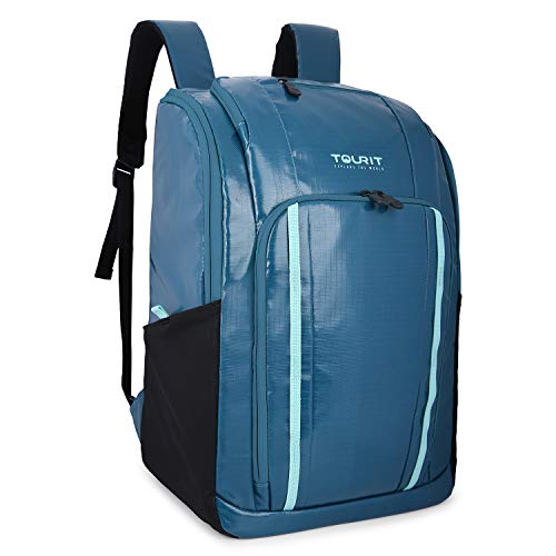 TOURIT Cooler Backpack Insulated Leakproof Backpack Cooler Soft Cooler with Waterproof TPU Material for Lunch, Picnic, Hiking, Camping, Beach, Park or Day Trip, 32 Cans, Green