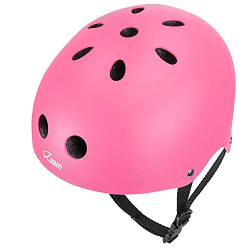 (JBM Skateboard Helmet CPSC ASTM Certified Impact Resistance Ventilation for Multi-Sports Cycling Skateboarding Scooter Roller Skate Inline Skating Rollerblading Longboard)