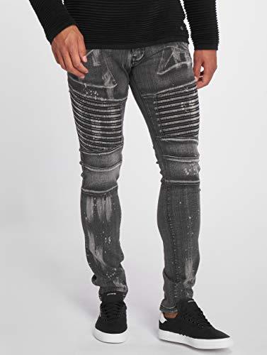 Ajustado Vaqueros Jeans 2Y Fatto Negro Hombres wztfqf5F