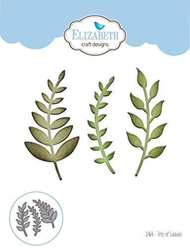 Elizabeth Craft Designs 1464 Trio of Leaves Die-Cuts, Multicolor