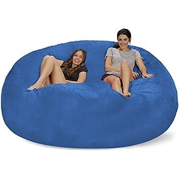 Merveilleux Chill Sack Bean Bag Chair: Giant 8u0027 Memory Foam Furniture Bean Bag   Big