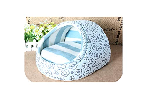 Pet cat Dog Bed House nest Dog House cat Bed Kennel pet Warm Princess Bed Dog beds for Small Medium Dogs cat House Washable,Blue,S