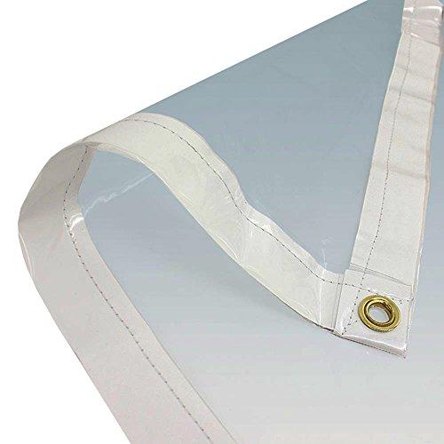 "Discount 06' X 20' Clear PVC Vinyl Tarp (Finished Size 5'6"" X 19'6"")"
