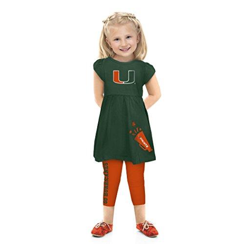 Cheekie Peach NCAA Miami Hurricanes Infant Play Set, 0-3 Months, Green