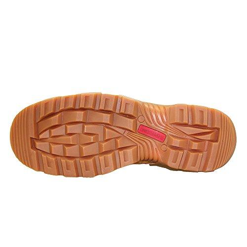 Rockrooster Tohono Heren Waterdichte Werkschoenen Veterschoenen Antislip Resistente Nubuck Lederen Veiligheidsschoenen Ap-238 Tarwe