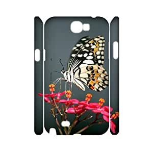 CHSY CASE DIY Design Butterfly Flowers 2 Pattern Phone Case For Samsung Galaxy Note 2 N7100