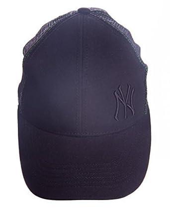 bc5146d11aba32 Mens Official NY Yankees Mesh Snapback Retro Baseball Trucker Cap Hat  Black: Amazon.co.uk: Clothing