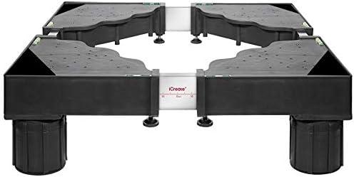Ajustable del aparato electrodoméstico de Base - Lavado ajustable base de la máquina 4/8 / 12 Pies Refrigerador soporte del sostenedor del soporte Secadora Base Móvil SYLOZ