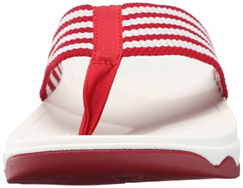 Womens Fitflop Surfa Flip-flop Classico Rosso / Bianco Urbano