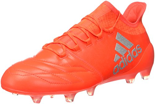 adidas X 16.1 FG Leather, Scarpe da Calcio Uomo Arancione (Solar Red/Silver Metallic/Hi-res Red)