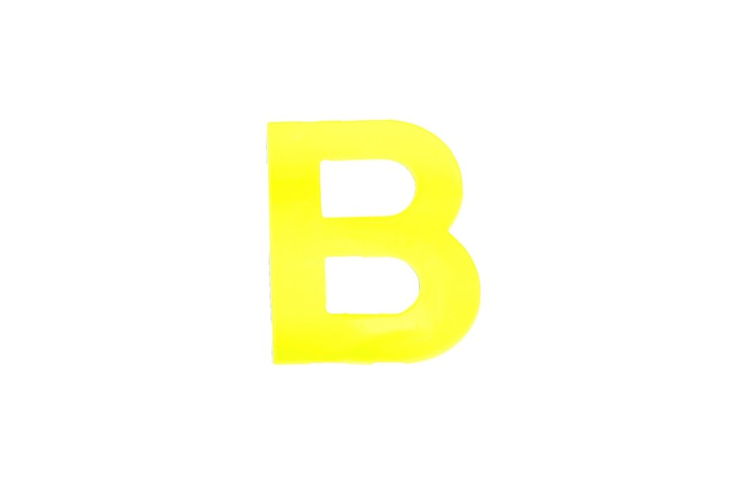 Bulk Hardware BH04958 High Visibility Plastic Reflective Mailbox, House Self Adhesive Letter B, 75mm (3 inch) - Yellow