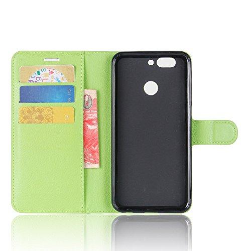 Manyip Funda Huawei nova 2 ,Caja del teléfono del cuero,Protector de Pantalla de Slim Case Estilo Billetera con Ranuras para Tarjetas, Soporte Plegable, Cierre Magnético(JFC6-5) F