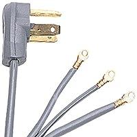 Certified Appliance 90-1024 3-Wire Dryer Cord, 6-Foot, 30A