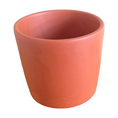 """T04 Terracotta Cylinder Clay Pot Planter 5"""" H x 5.5"""" D Hand Made in The USA"""