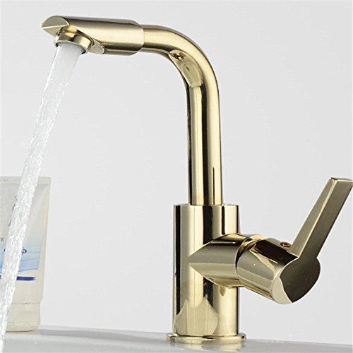 Kokeruup Badezimmer Wasserhahn Waschbecken Küche Badezimmer heiß und kalt Einloch Waschbecken Badezimmer A