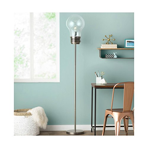 72 Inch Unique & Stylish Edison Bulb Shape Floor Lamp For Reading Corner, Antique Brass Base Finish by Mercury Row