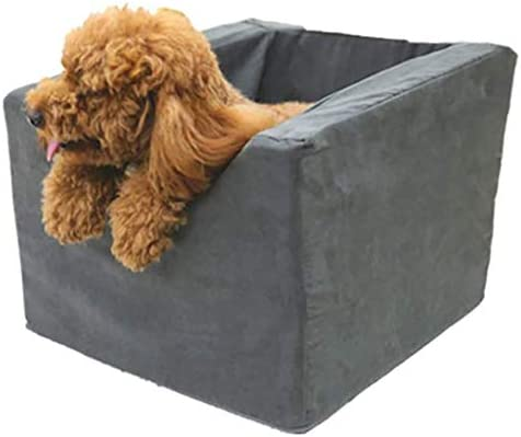 XISABCS 犬のカーシート、小中型犬、シートベルトの犬のキャリアを持つ折りたたみ防水子犬カーシート用ペット犬のブースターシート