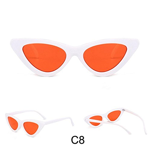 Honhui Fashion Women Cat Eye Shades Integrated UV Candy Colored Sunglasses - Of Shades Types Sunglasses
