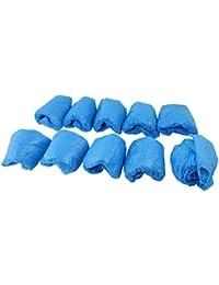 Investment CPE Elastic Band Economical Disposable Shoes Cover 100 Pcs Blue occupation