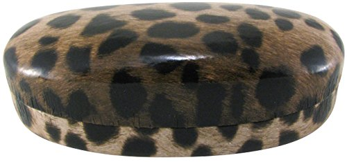 Evolution Eyes Hard Clamshell Sunglass and Eyeglass Fashion Design Case, Fits All Frames, - Glasses Frames Cheetah