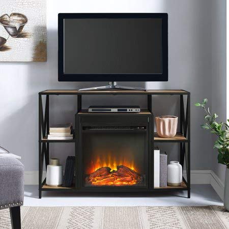 """Price comparison product image Manor Park. 40"""" Fire Place TV Stand Cube Shelf - Barnwood"""