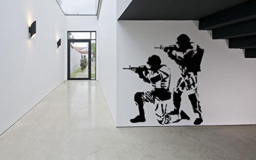 Wall Room Decor Art Vinyl Sticker Mural Decal Soldiers Warriors Military Poster Army Shooter Sniper - Shooters Sniper