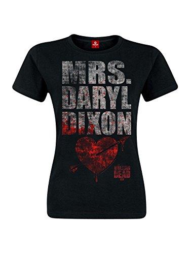 T-shirt girlie Walking Dead Mrs. Dixon coton noir - XXL