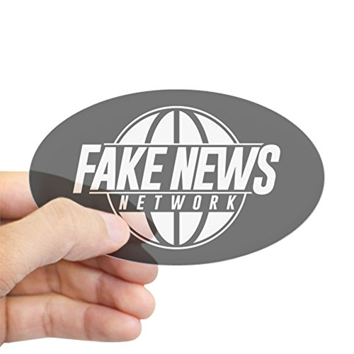 CafePress Fake News Network Oval Bumper Sticker, Euro Oval Car Decal