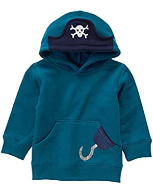 Baby Boy Teal Pirate Hoodie