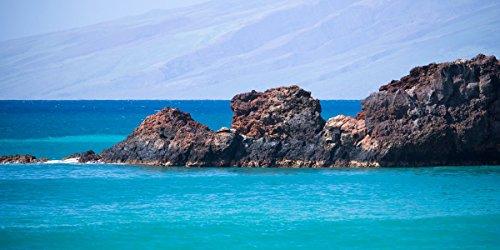 Black Rock Kaanapali Maui Hawaii, Large Panoramic Hawaiian Wall Art, Turquoise Aqua Ocean - J Maui