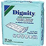 Dignity Super Absorbent Natural Pad 4'' x 12'' (Case of 175)