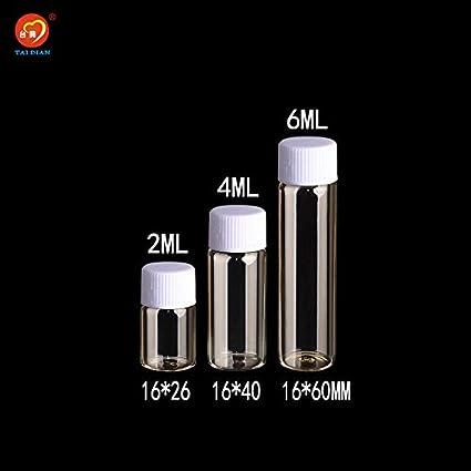 Generic 4 ml: 2 ml 4 ml 6 ml botellas de vidrio con tapón de