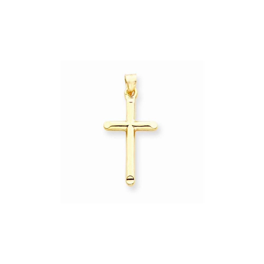 14k 3-d Hollow Cross Pendant Best Quality Free Gift Box