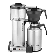 Moccamaster 39340 Grand 15-Cup Coffee Brewer with Thermal Carafe, Brushed Silver