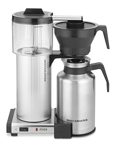 Moccamaster CDT Grand 15-Cup Coffee Brewer with Thermal Carafe, Brushed Silver