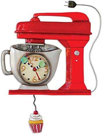 Allen Design Studios Vintage Mixer Red Mixer Kitchen Wall Clock