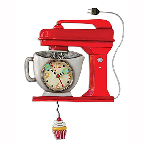 Allen Design Studios Vintage Mixer Red Mixer Kitchen Wall Clock