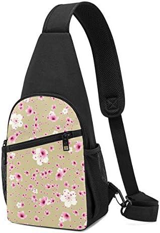 ボディ肩掛け 斜め掛け 海棠 百合 朝顔 梅 桜 ショルダーバッグ ワンショルダーバッグ メンズ 軽量 大容量 多機能レジャーバックパック